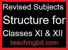 Revised Subjects Structure for Classes XI & XII