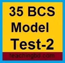 35 BCS Model Test-2