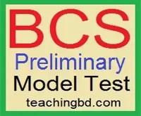 36 BCS Preliminary Model test 1