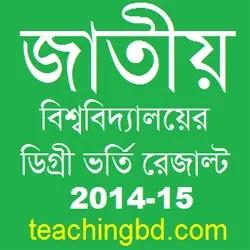 National University Degree  Result 2013-14 1