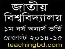 National University Honours Admission Result 2015-16 NU.edu.bd 15