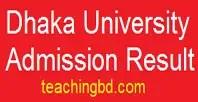 Dhaka University Admission Result 2016-17 | admission.eis.du.ac.bd 1