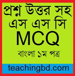 SSC Bangla 1st Paper MCQ Question With Answer 2017