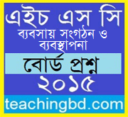 Business Organization & Management Question 2015 Dhaka Board