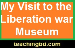 Writing A Composition: My Visit to the Liberation war Museum 1
