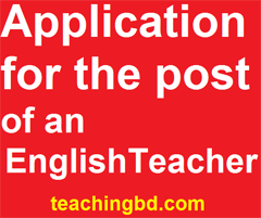Application for the post of an English Teacher 1