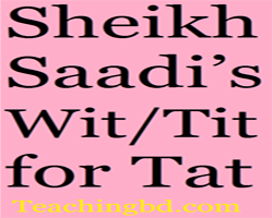 Story: Sheikh Saadi's Wit/Tit for Tat 1