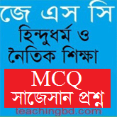 JSC Hindu Religion and moral education MCQ Question with Answer Chapter 8