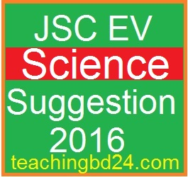 EV Science Suggestion and Question Patterns of JSC 2016-2