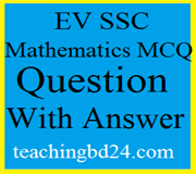 EV SSC Mathematics MCQ Question With Answer 2019 1