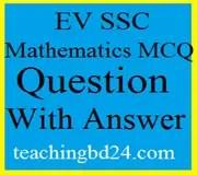 EV SSC Mathematics MCQ Question With Answer 2019 1