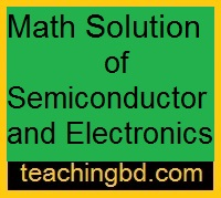 Math Solution of Semiconductor and Electronics