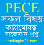 PECE All subject Structured questions and answer suggestion 2019
