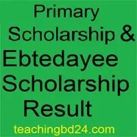 Primary School Scholarship & Ebtedayee Scholarship Result 2018 1