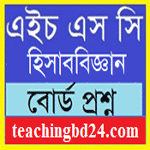 Accounting 2nd Paper Question 2017 Jessore Board