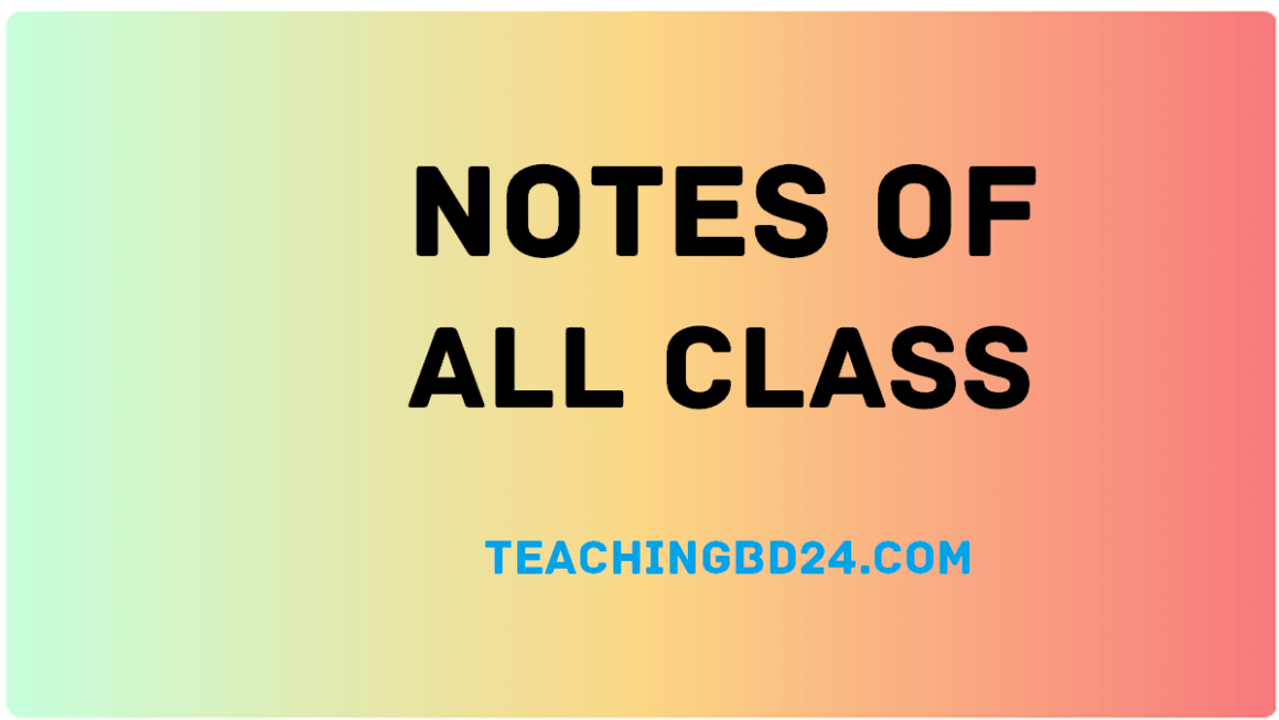 Notes of All Class 3
