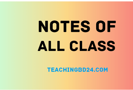 Notes of All Class 7