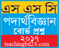 Physics Question 2017 Chittagong Board