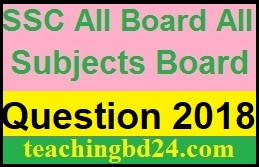 SSC EV All Board All Subjects Board Question 2018