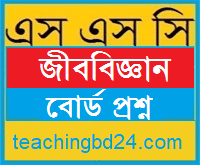 SSC Biology Board Question Jessore Board 2016
