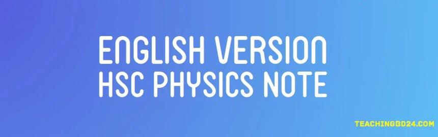 English Version HSC Physics Note 1