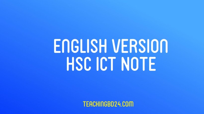 HSC Information and Communication Technology Note 1