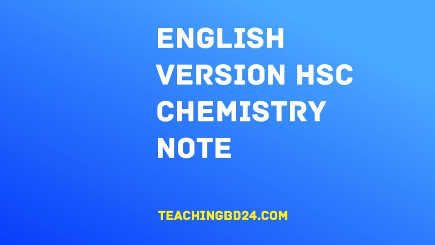 English Version HSC Chemistry Note 1