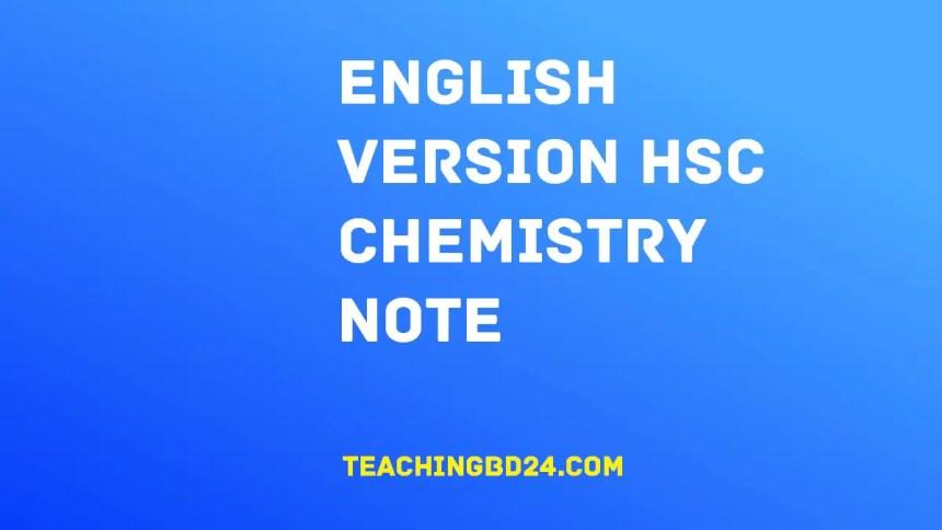 English Version HSC Chemistry Note 1