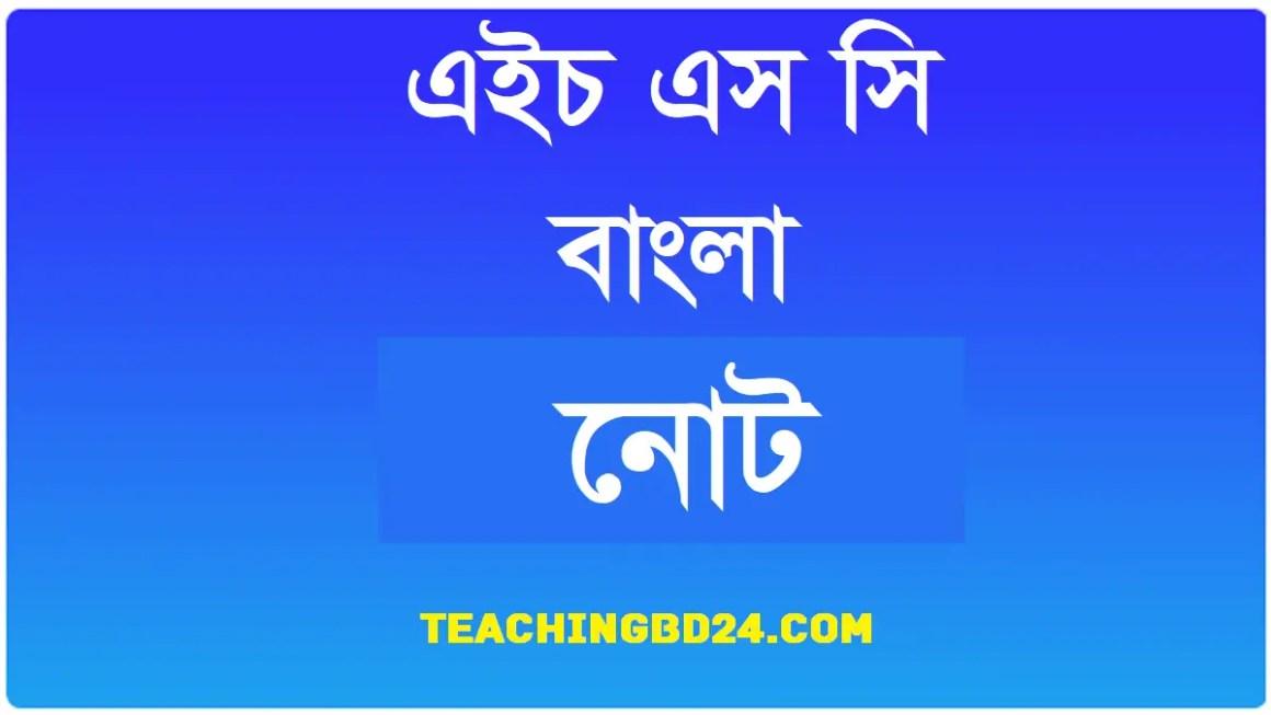 HSC Bangla 1st Paper Note Lok Lokantor