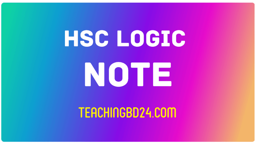 HSC Logic 1st Paper 4th Chapter Note