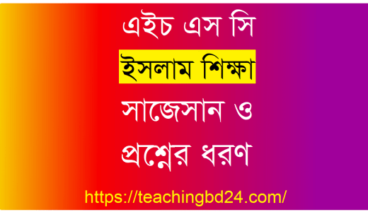 HSC Islam Education 2nd Paper Suggestion and Question Patterns 2020-6 19
