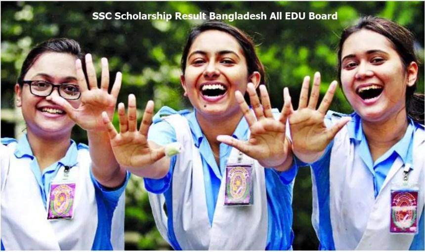 SSC Scholarship Result Bangladesh All EDU Board