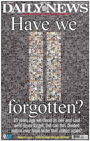 9.11.16 cover of New York Daily News, via @richarddeitsch Twitter