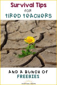 Brain breaks for teachers and other teacher tips for teacher survival to avoid teacher burnout. End of the year survival tips and more for the busy teacher