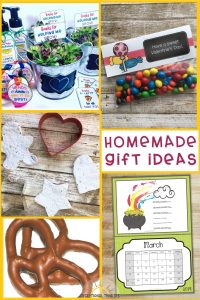 Homemade Gift Ideas, perfect for Mother's Day, Teacher's Appreciation Week, Father's Day, End of the School Year, Christmas gift ideas, and more. These diy gift ideas are ideal for special education students or children with disabilities too.