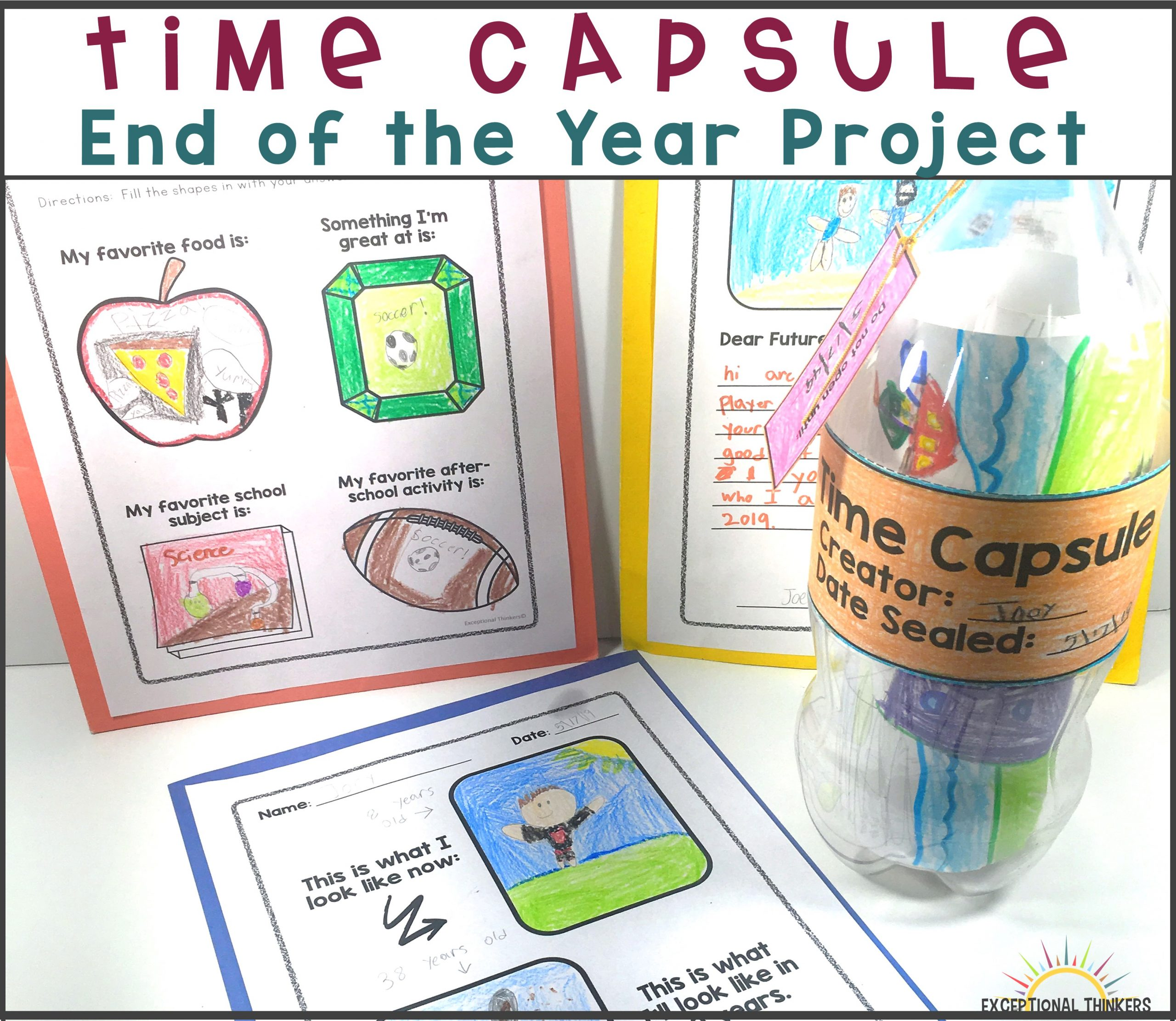 End of the Year Time Capsule Activity