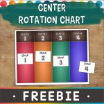 group rotation chart for behavior management
