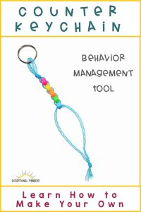 Behavior Management Bead Counter Keychain