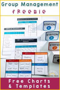 group management freebie for differentiated instruction