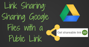 Sharing Google Files as a public link