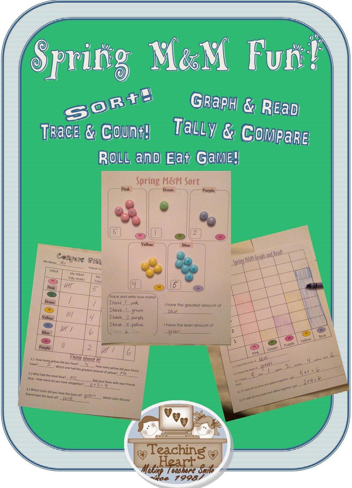 Spring M Amp M Common Core Math Fun Teaching Heart Blog