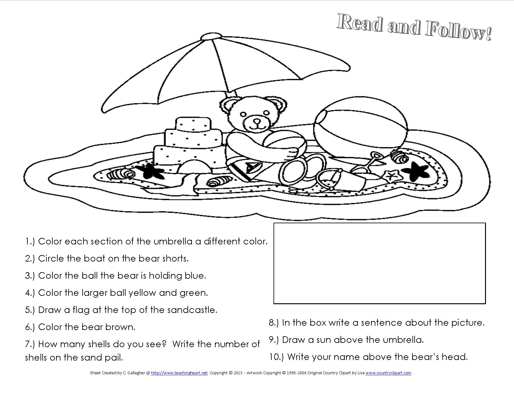 Many Free Summer Themed Worksheets