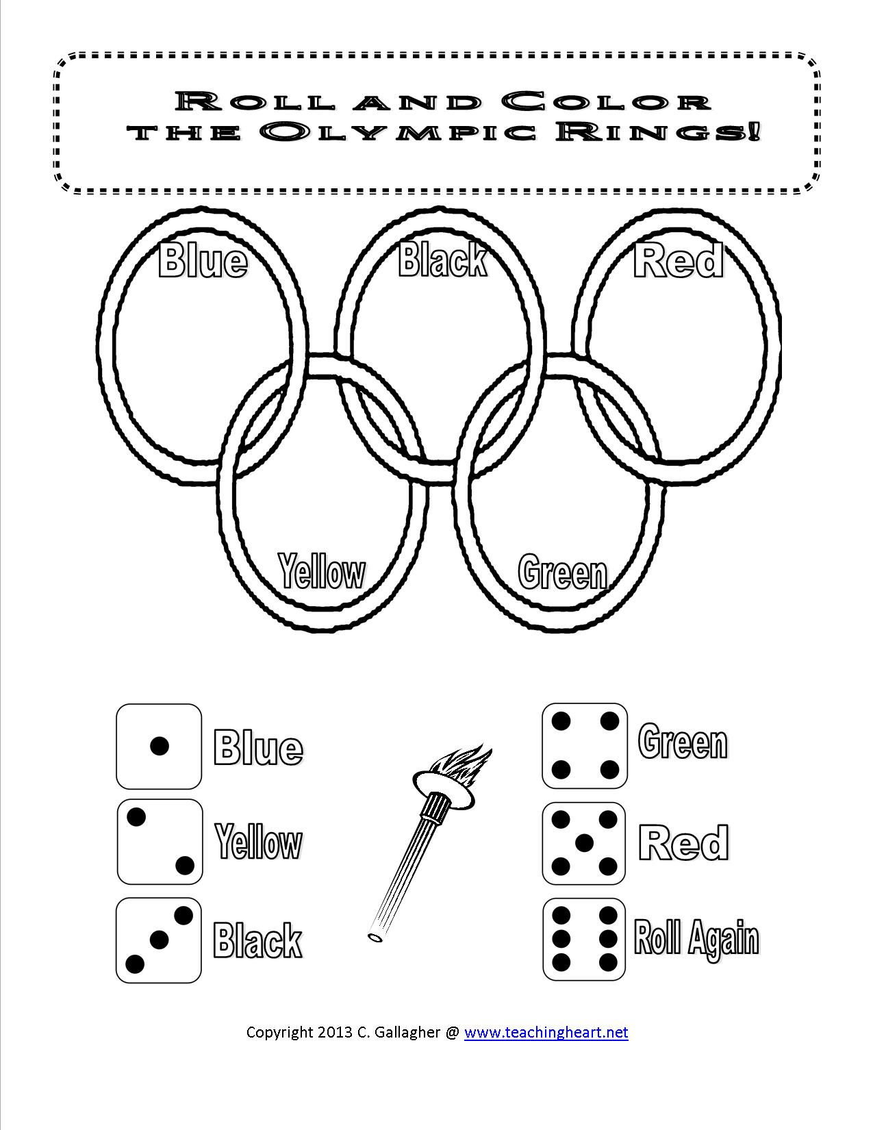 Olympics Dice Game And More Free