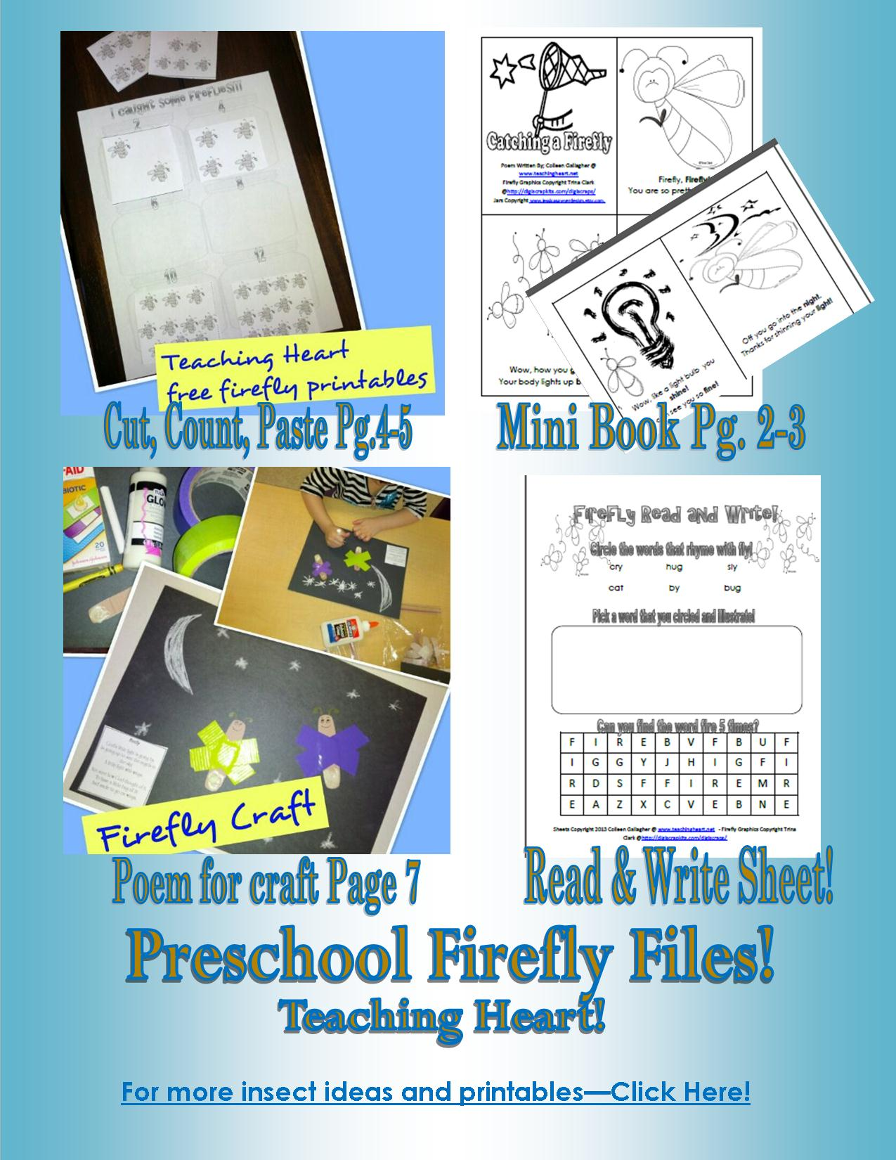 Bug Insect Themed Printables Centers Math Literacy