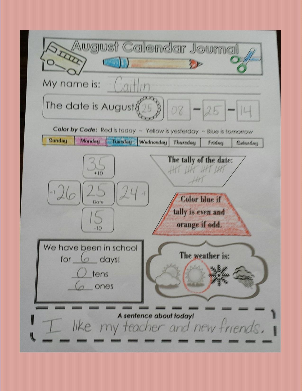Calendar Is Learning Time Teaching Heart Blog