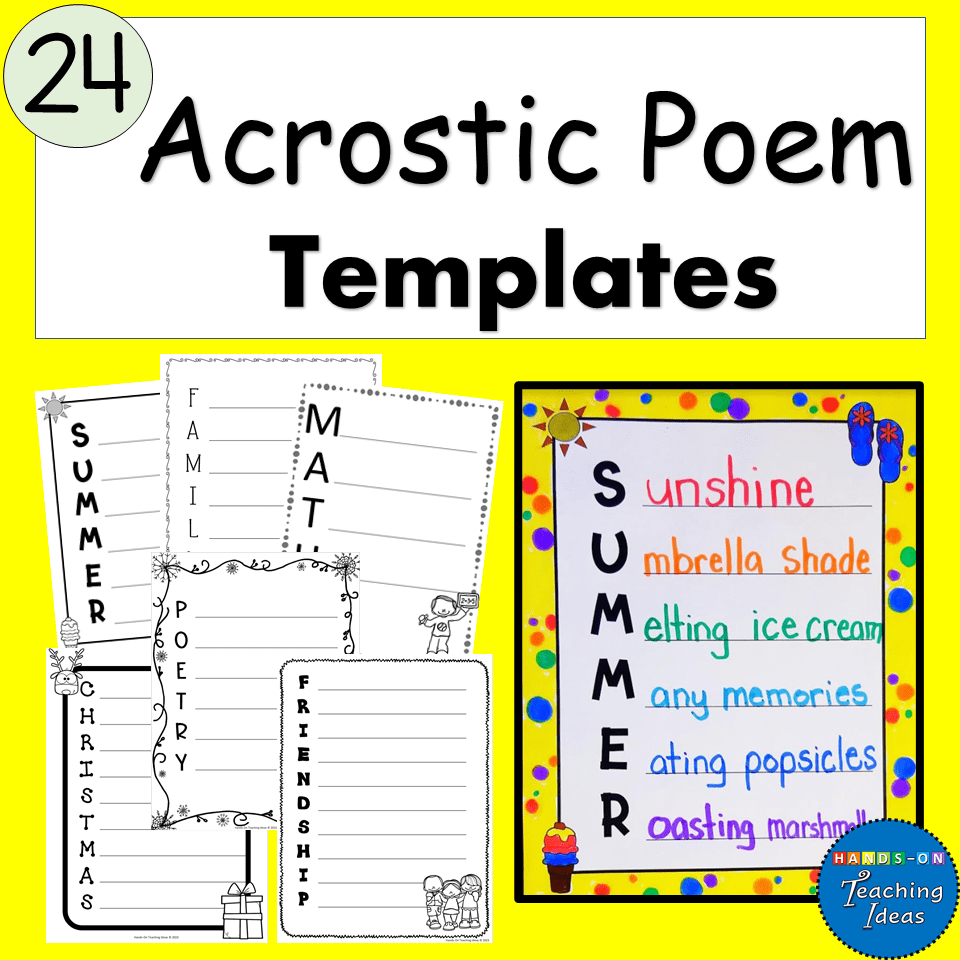 Suzy hazelwood/pexels there are some essential classic poems everyone should know. Acrostic Poem Templates For A Variety Of Holidays Subjects And Seasons Hands On Teaching Ideas