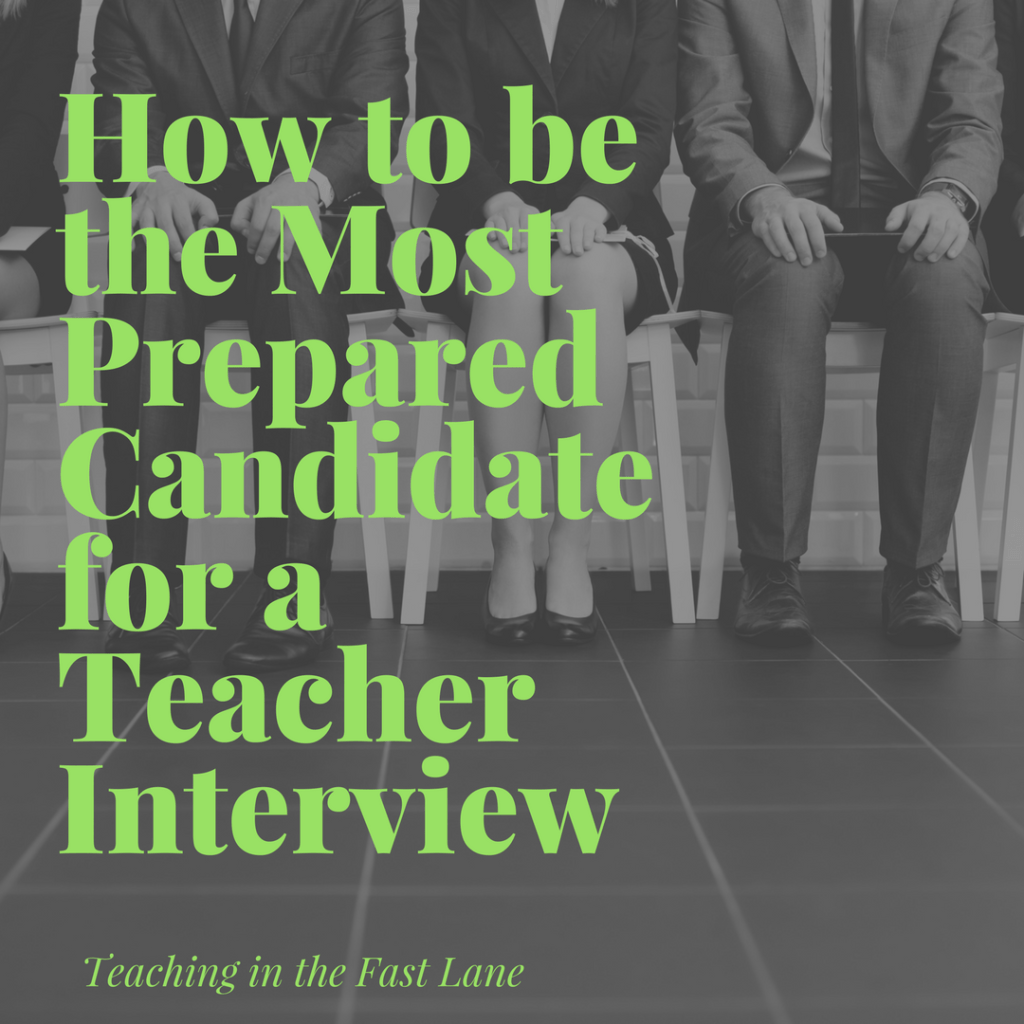 How to Be the Most Prepared for a Teacher Interview
