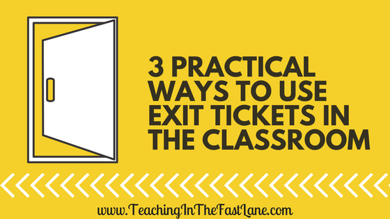 Exit tickets can be a game changer in the classroom, but they can also be one extra thing on your plate. Check out this post for 3 practical ways to use exit tickets in the upper elementary classroom!