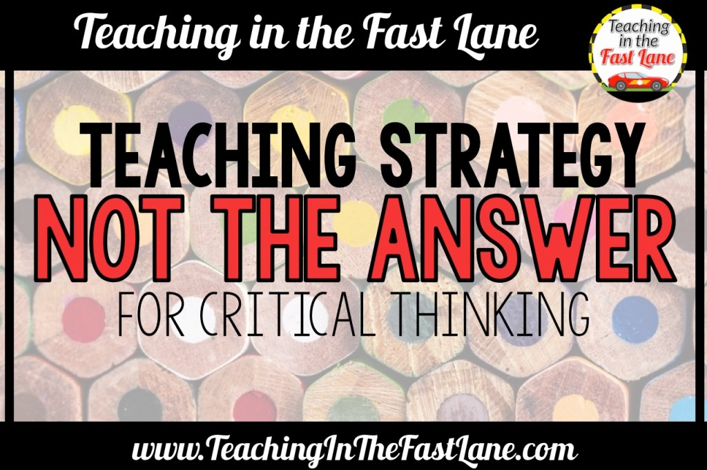 "Are you looking for a way to teach critical thinking skills to your students? Give my favorite strategy, ""Not the Answer"" a try! This activity builds critical thinking skills through the use of multiple choice questions and allows you a look inside your students' thinking."
