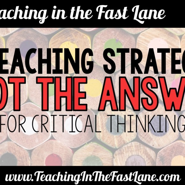 """""""Not the Answer"""" Critical Thinking Activity"""